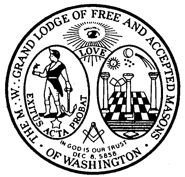 Seal of the Grand Lodge of Washington, F and A M